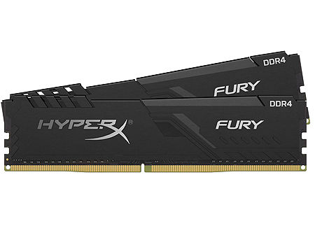 16GB DDR4 Dual-Channel Kit Kingston HyperX FURY Black HX432C16FB3K2/16 16GB (2x8GB) DDR4 PC4-25600 3200MHz CL16, Retail (memorie/память)
