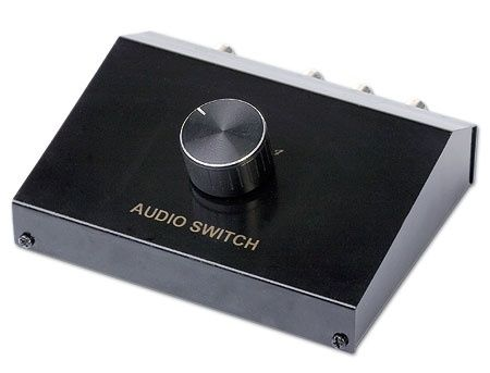 Gembird DSA-4 4-way Audio signal input manual box, Переключатель аудио сигналов