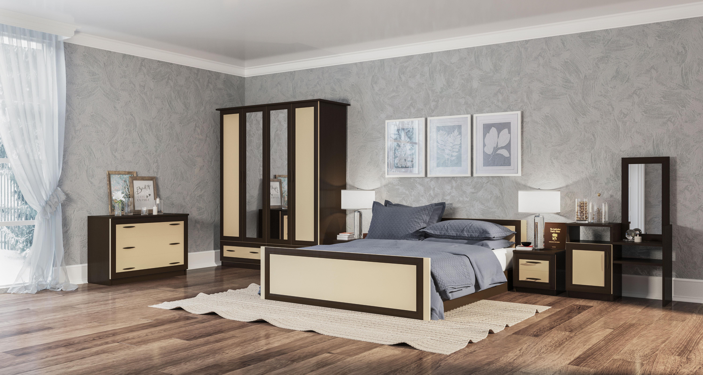 Спальня свит меблив соня дсп венге темный/венге светлый в ки.