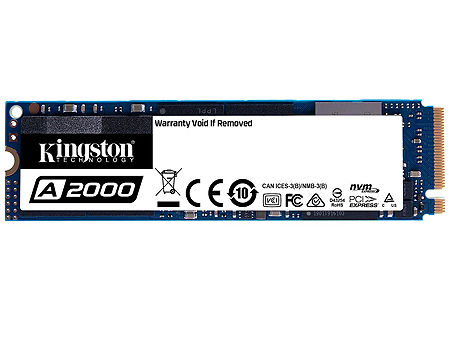 1TB SSD M.2 Type 2280 PCIe NVMe 3.0 x4 Kingston A2000, SA2000M8/1000G, Read 2200MB/s, Write 2000MB/s, SA2000M8/1000G (solid state drive intern SSD/внутрений высокоскоростной накопитель SSD)