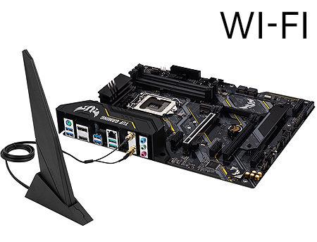 Placa de baza ASUS TUF GAMING B460-PRO (WI-FI) Intel B460, LGA1200, Dual DDR4 2933MHz, 2xPCI-E 3.0x16, DP 1.4/HDMI 1.4b, AMD 2-Way CrossFireX, Intel Wi-Fi 6 802.11ax, USB3.2, SATA RAID 6Gb/s, 2 x M.2 x4 Socket, Intel Optane, SB 8-Ch., GigabitLAN, AURA Sync