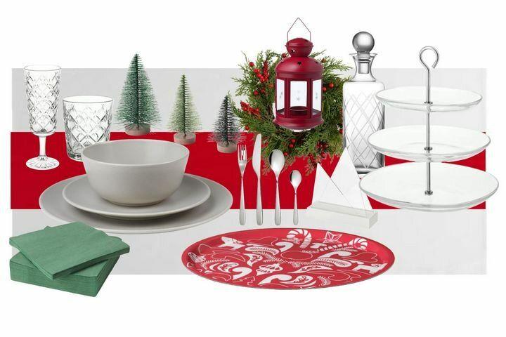 Посуда новогодняя и аксессуары для сервировки
