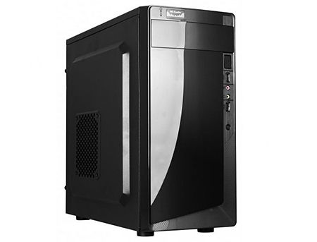 Case Miditower mATX HPC D-06 Shiny Black, 500W, 12cm fan, 24 pin, 2xSATA cables, 2xUSB 2.0 & Audio (carcasa/корпус)