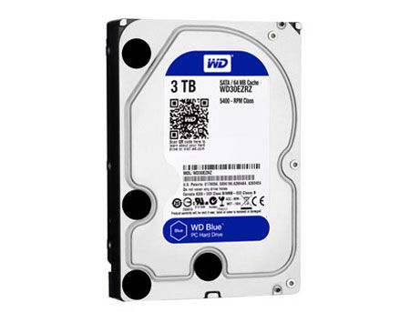"3.5"" HDD 3TB Western Digital Blue WD30EZRZ, 5400 rpm, SATA3 6GB/s, 64MB (hard disk intern HDD/внутренний жесткий диск HDD)"