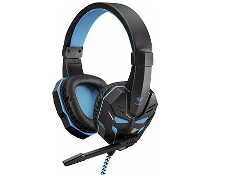 AULA Prime Basic Gaming Headset, 20 Hz - 20 kHz, 97+/-3 dB, 32 Ohm, Microphone: -38 dB ± 3 dB, 2.1m, 2x3.5mm (casti cu microfon/наушники с микрофоном)