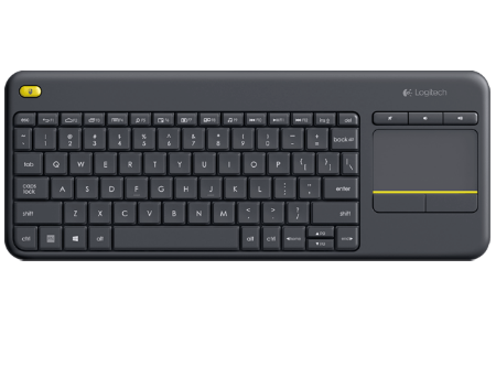 Logitech K400 Plus Black TV Wireless Touch Keyboard USB, 920-007147 (tastatura fara fir/беспроводная клавиатура), www