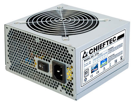 450W ATX Power supply Chieftec CTB-450S, 450W, 85 plus, 120mm silent fan <~27 dB, Active PFC (Power Factor Correction) (sursa de alimentare/блок питания)