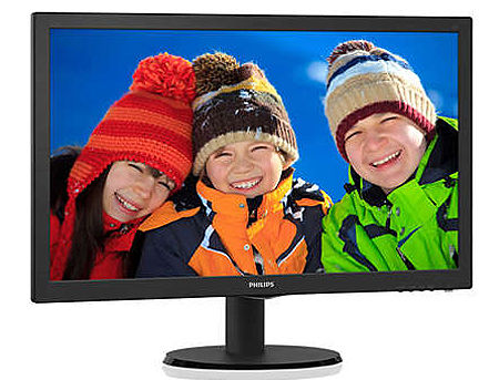 "Монитор 21.5"" TFT LED Philips 223V5LHSB2 Black WIDE 16:9, 0.248, 5ms, Smart Contrast 10,000,000:1, SmartTouch controls, H:30-83kHz, V:56-76Hz,1920x1080 Full HD, D-Sub, HDMI, TCO03"