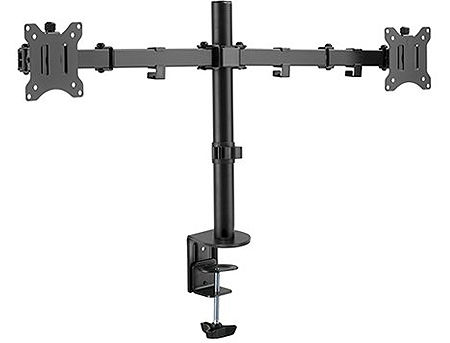 "Brateck LDT42-C024 Dual Monitors Steel Articulating Monitor Arm, for 2 monitors, Clamp-on, 17""-32"", +45"