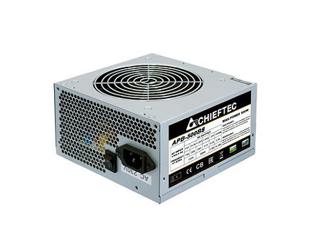 500W ATX Power supply Chieftec APB-500B8, 500W, ATX 12V 2.3, 120mm silent fan, <80%, Active PFC (Power Factor Correction) (sursa de alimentare/блок питания)