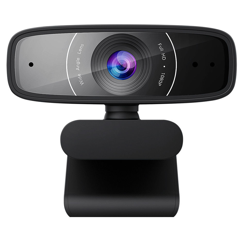 Веб-камера ASUS Webcam C3, FullHD 1920x1080 Video 30 fps, 2 built-in Microphones, 90° tilt-adjustable clip and 360° rotation, USB 2.0 (camera web/веб-камера)