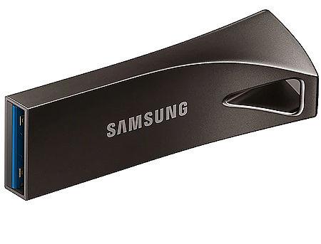 64GB USB Flash Drive Samsung BAR Plus MUF-64BE4/APC, Read 200MB/s, Titan Gray Metal Body, USB 3.1, waterproof, shock-proof, temperature-proof, magnet-proof, and X-ray-proof, (memorie portabila Flash USB/внешний накопитель флеш память USB)