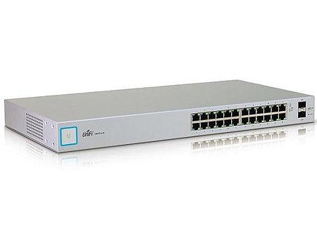 Ubiquiti UniFi Switch 24 (US-24), 24-Port Gigabit RJ45, 2-ports SFP, Non-Blocking Throughput: 26 Gbps, Switching Capacity: 52 Gbps, Rackmountable (retelistica switch/сетевой коммутатор)