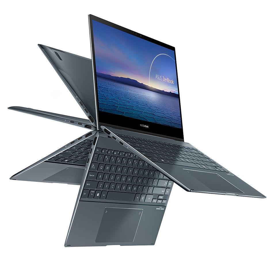 "Ноутбук 13.3"" ASUS ZenBook Flip 13 UX363JA Pine Grey, Intel i5-1035G1 1.0-3.6Ghz/8GB LPDDR4X/SSD 256GB M.2 NVMe/Intel UHD Graphics/WiFi 6 802.11ax/BT5.0/HDMI/HD WebCam/Illum. Keyb./Number Pad/13.3"" IPS Touchscreen Glossy (1920x1080)/Windows 10 UX363JA-EM010T"