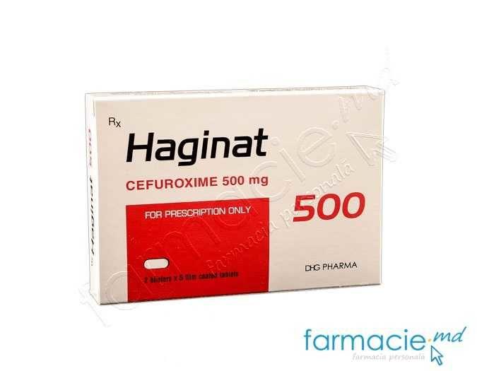Haginat comp.film. 500mg N10 (cefuroxim)
