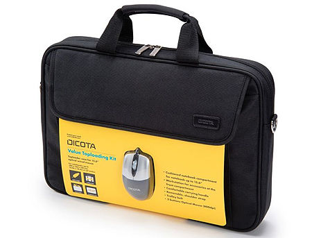 "Dicota D30805-V1 Value Toploading Kit 15.6"" (Universal Case + USB mouse) Notebook Case 15.6"", black (geanta laptop/сумка для ноутбука)"