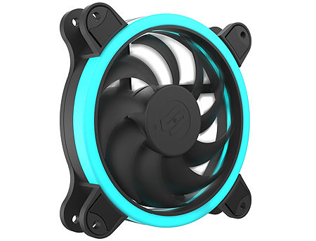Case/CPU FAN SilentiumPC Corona HP RGB 120, 18 bright RGB LEDs, 120x120x25 mm, 3 pin + 4 pin (RGB), 1500rpm, Airflow 35 CFM