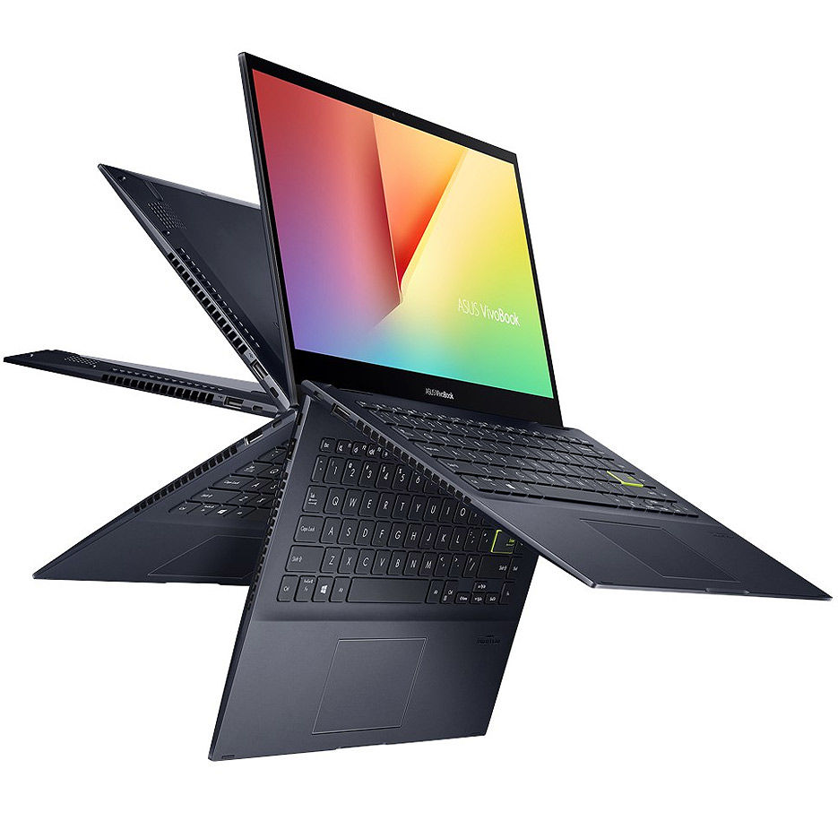 "Laptop 14"" ASUS VivoBook Flip 14 TM420IA Black AMD Ryzen 7 4700U 2.0-4.1Ghz/16GB/SSD 512GB M.2 NVMe/AMD Radeon Vega7/WiFi 6 802.11ax/BT5.0/HDMI/HD WebCam/Illuminated Keyb/Number Pad/14"" Touchscreen IPS FHD LED Backlit (1920x1080)/Windows10 TM420IA-EC070T"