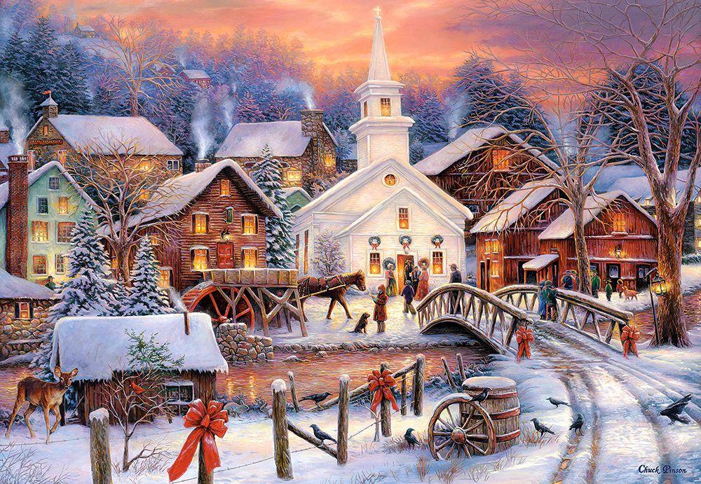 Картинки с красивыми новогодними пейзажами, открытка февраля своими