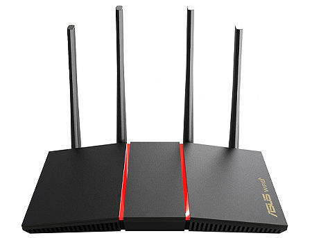 ASUS RT-AX55, AX1800 Dual Band WiFi 6 (802.11ax) Gigabit Router, dual-band 2.4GHz/5GHz at up to super-fast 1800Mbps, AiMesh WiFi, WAN:1xRJ45 LAN: 4xRJ45 10/100/1000 (router wireless WiFi/беспроводной WiFi роутер)