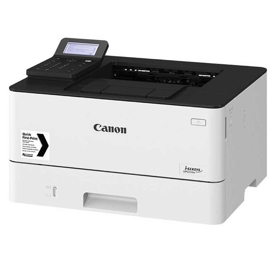 Printer Canon i-Sensys LBP226DW, Duplex,Net, WiFi, A4,38ppm,1Gb,1200x1200dpi, Max.80k pages per month, Up 250+100 sheet tray, 5-Line LCD,UFRII,PCL5e6,PCL6,Adobe® PostScript,Cartridge 057 (3100pag*)/057H (10000pag*),Options AH-1 (500-sheet cassette)