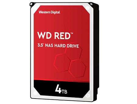 "3.5"" HDD 4TB Western Digital Red (NAS Storage) WD40EFAX, IntelliPower, SATA3 6GB/s, 256MB (hard disk intern HDD/внутрений жесткий диск HDD)"