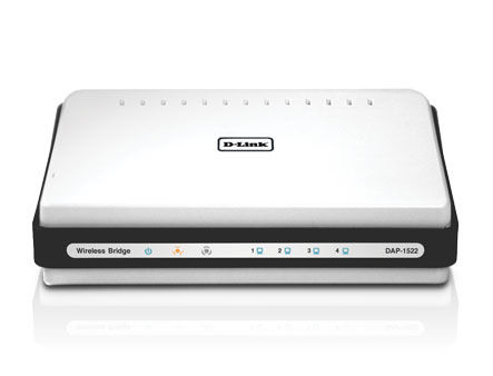 D-Link DAP-1522/E 802.11n DualBand High-Speed Bridge/AP, 802.11a/b/g/n compatible 2.4/5Ghz, 4 10/100/1000BASE-TX (punct de access WiFi/беспроводная точка доступа мост WiFi)