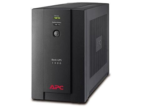 UPS APC Back-UPS BX1400UI, AVR, 1400VA/700Watts, Input: 150-280V, 50/60 Hz +/- 3 Hz (auto sensing), Line Interactive, IEC Sockets