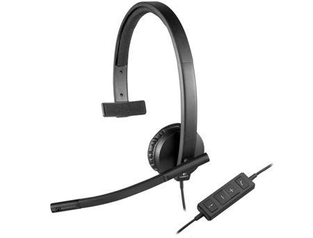Logitech Headset USB Mono H570e Black, Headset: 31.5Hz-20kHz, Microphone: 100Hz-18kHz, 2.5m cable, 981-000571 (casti cu microfon/наушники с микрофоном)