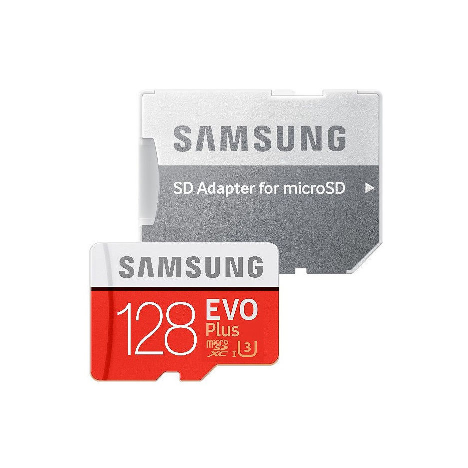 128GB Samsung EVO Plus MB-MC128HA/RU microSDXC (Class 10 UHS-I) with Adapter, Read:up to 100MB/s, Write:up to 60MB/s (card de memorie/карта памяти)