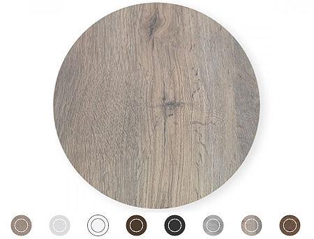 Top laminat rotund pentru masa NARDI diametrul 90cm (9 culori)