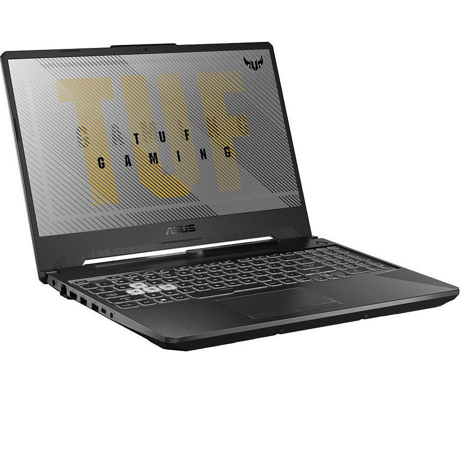 "Laptop 15.6"" ASUS TUF FA506IU, AMD Ryzen 7 4800H 8-Cores 2.9-4.2GHz/16GB DDR4/M.2 NVMe 512GB SSD/GeForce GTX1660Ti 6GB GDDR6/WiFi 802.11AC/BT5.0/USB Type C/HDMI/Webcam HD/Backlit RGB Keyboard/15.6"" FHD IPS LED-backlit 144Hz (1920x1080)/NoOS/Gaming FA506IU-HN200"