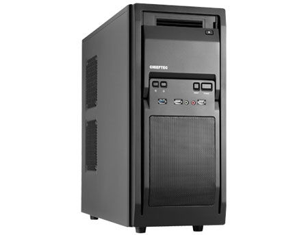 Case ATX Miditower Chieftec Libra LF-02B-OP Black no PSU, 2x USB 2.0, 1x USB 3.0, Mic-in, Audio-out, 1x 120mm fan (at the back), HDD rails (carcasa/корпус)