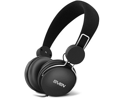 SVEN AP-320M Headphones with microphone, Headset: 20-20,000 Hz, Microphone: 30-16,000 Hz, 1.2m, Black