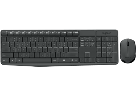 Logitech MK235 Grey Wireless Combo, Keyboard+Mouse, 920-007948 (set fara fir tastatura+mouse/беспроводной комплект клавиатура+мышь)