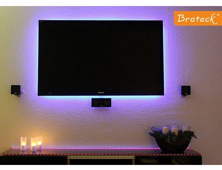 Home Theatre TV LED Backlight Kit Brateck TBL-01, Length 2m, Remote