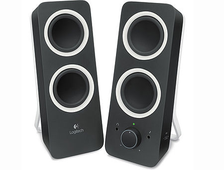 Logitech Z200 Stereo Speakers Midnight Black 2.0, ( RMS 5W, 2x2.5W satel.), 980-000810 (boxe sistem acustic/колонки акустическая сиситема)