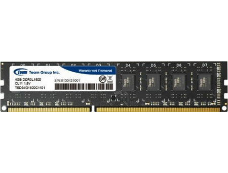 4GB DDR3 Team Elite TED34G1600C1101 4GB PC12800 1600MHz CL11, Retail (memorie/память)
