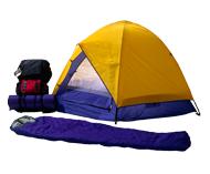 Палатки, гамаки, спальные мешки