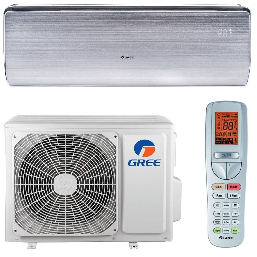 Aparat de aer conditionat tip split pe perete Inverter Gree U-Crown SILVER GWH12UB 12000 BTU