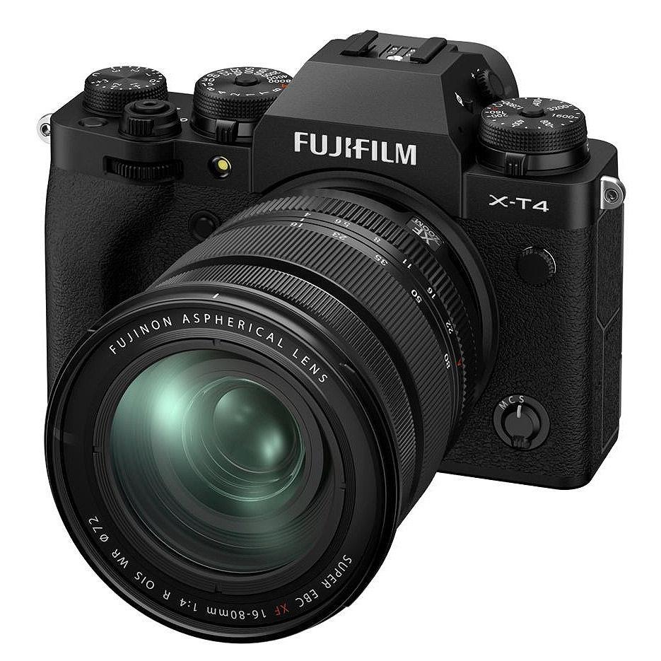 Fujifilm X-T4 black XF16-80mm F4 R OIS WR Kit, Mirrorless Digital Camera Fujifilm X System (Aparat fotografic)