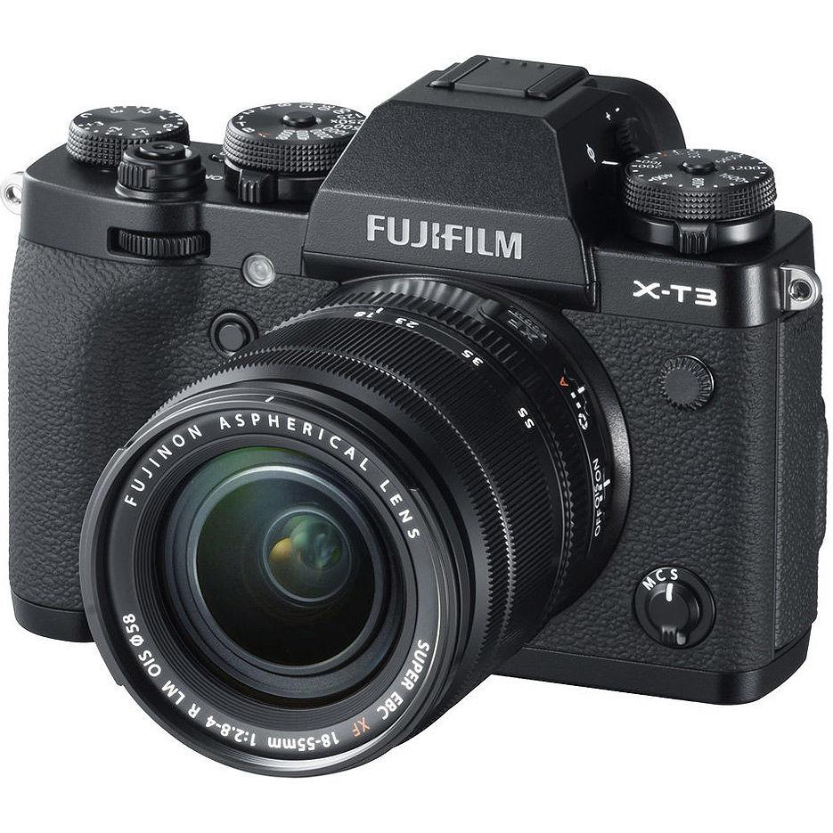 Fujifilm X-T3 black XF18-55mm F2.8-4 R LM OIS kit, Mirrorless Digital Camera Fujifilm X System (Aparat fotografic)