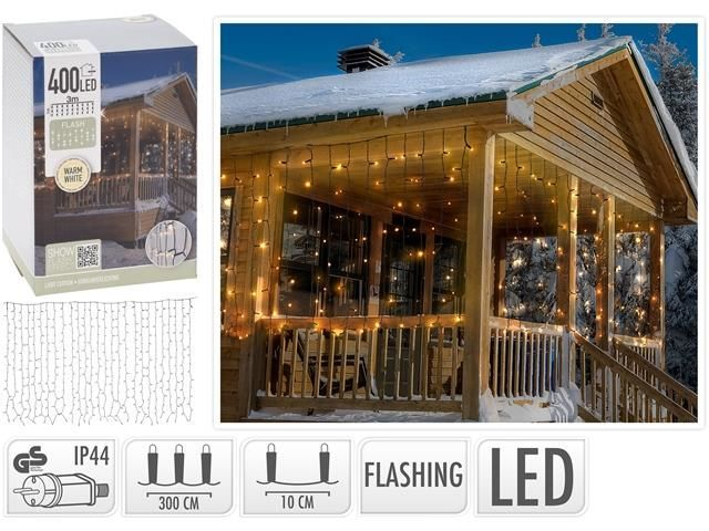Огни новогодние с FLASH-LED  т.-бел
