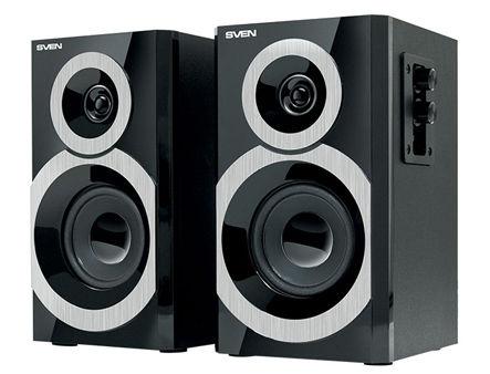 Active Speakers SVEN SPS-619 Black, RMS 20W, 2x10W, дерево/lemn (boxe sistem acustic/колонки акустическая сиситема)