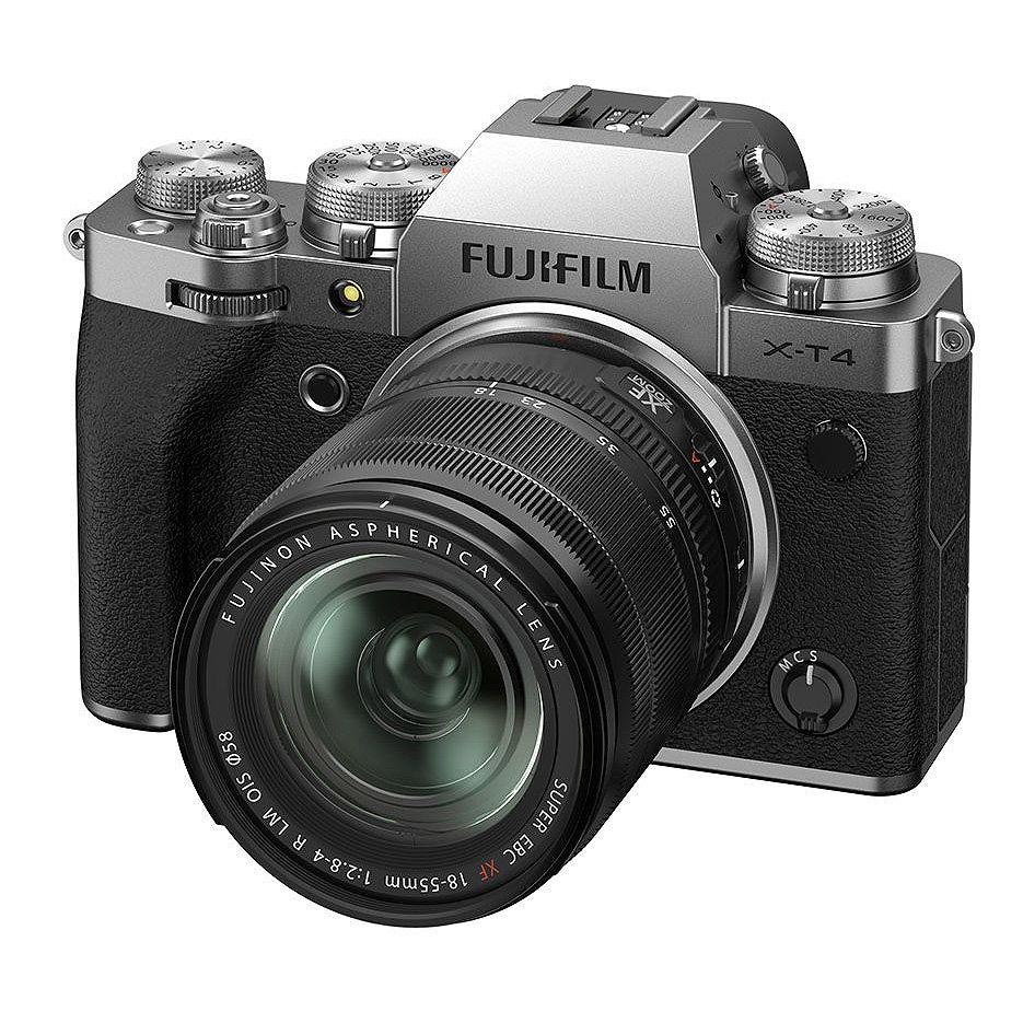 Fujifilm X-T4 silver XF18-55mm F2.8-4 R LM OIS Kit, Mirrorless Digital Camera Fujifilm X System (Aparat fotografic)