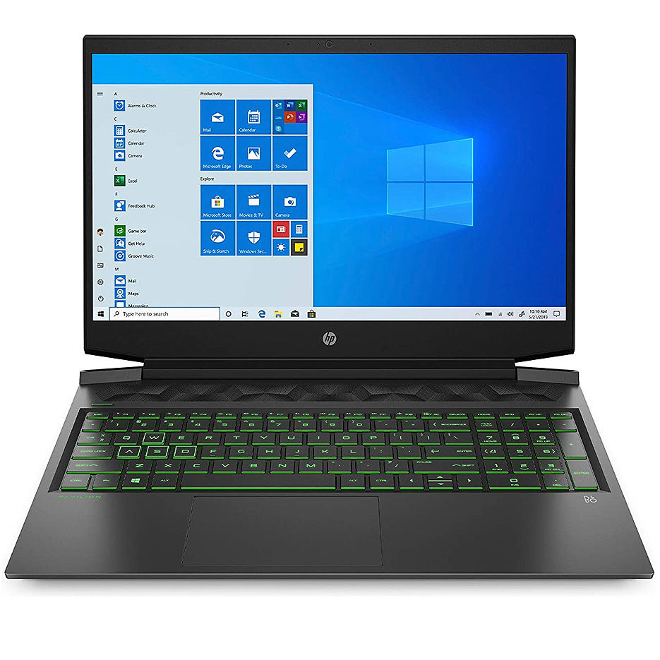 "Ноутбук 16.1"" HP Pavilion 16-A0032 GAMING, Shadow Black, Intel Core i5-10300H 2.5-4.5GHz/8GB DDR4/512GB SSD PCIe NVMe/nVidia GTX1660Ti 6GB GDDR6/WiFi 802.11ac/BT/WebHD/Backlit keyboard/16.1"" FHD 144Hz IPS Anti-glare micro-edge WLED-backlit (1920x1080)/Windows10"