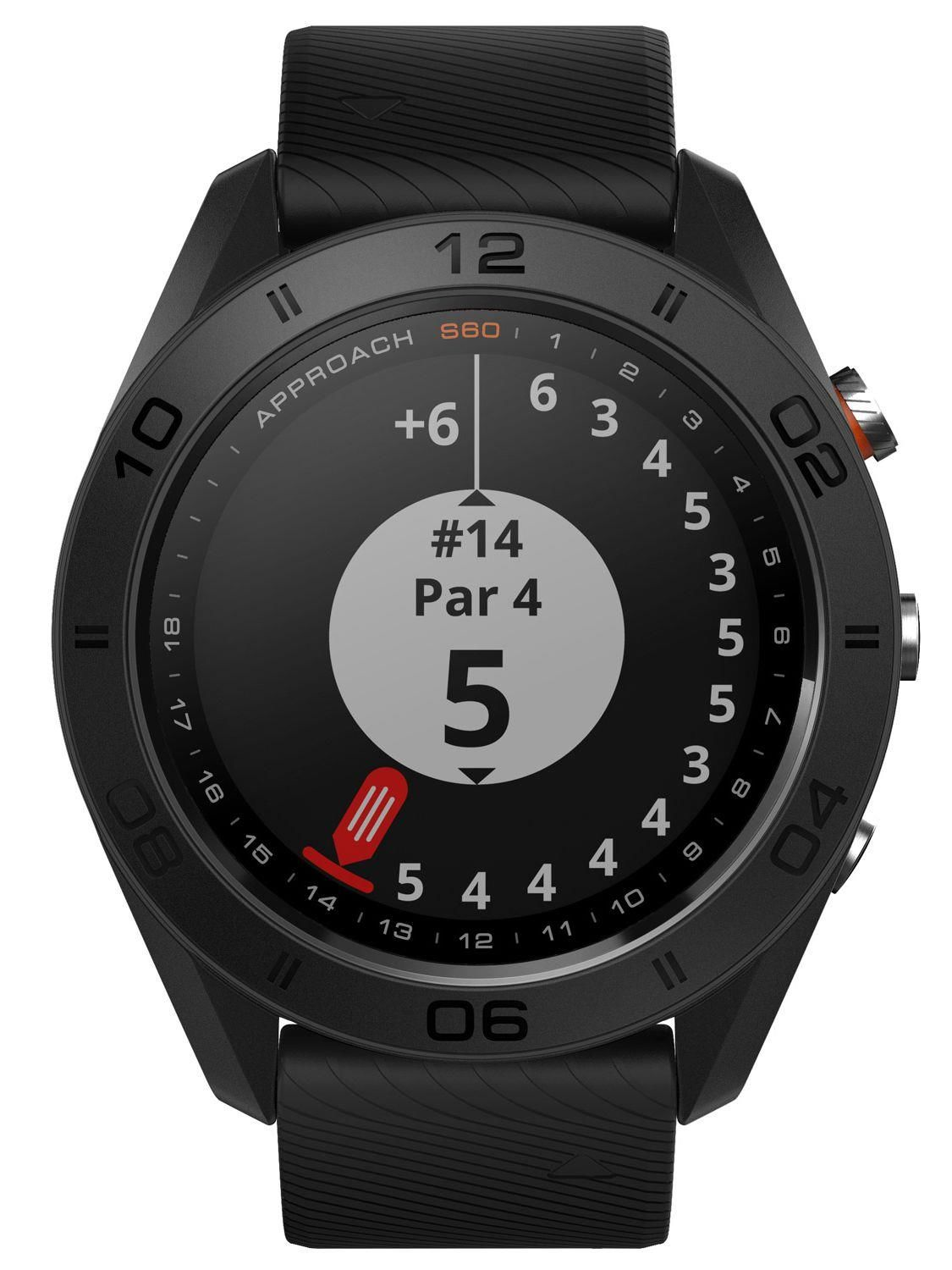 купить Смарт часы Garmin Approach S60 - Black GPS golf watch with black  silicone band в 409c32176e70a
