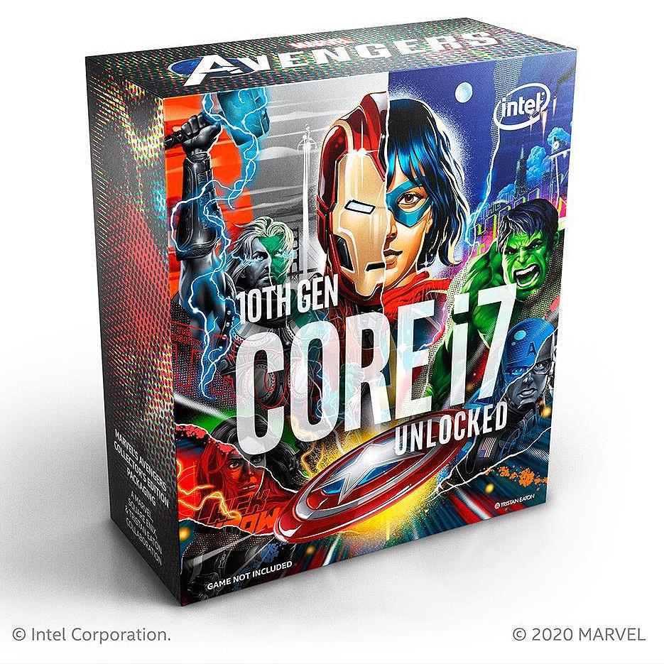 CPU Intel Core i7-10700KA Avengers Limited Edition 3.8-5.1GHz 8 Cores 16-Threads, (LGA1200, 3.8-5.1Hz, 16MB, Intel UHD Graphics 630) BOX no Cooler, BX8070110700KA (procesor/процессор)