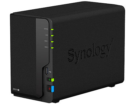 "Synology DiskStation DS218+, 2-bay NAS Server for Home to Business, 4K UHD transcoding, DualCore 2.5GHz, 2GB DDR3, 2 x 3.5"" or 2.5"" SATA3, 3xUSB 3.0, Gigabit LAN (retelistica NAS pentru HDD/сетевой дисковый накопитель для HDD)"