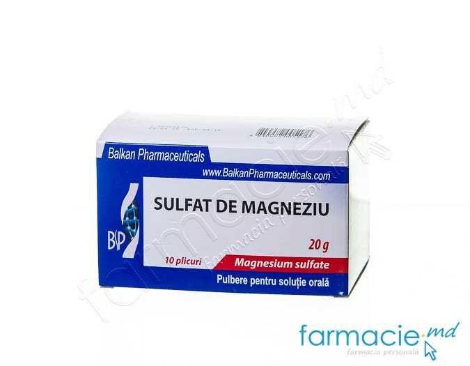 dureri de sulfat de magneziu